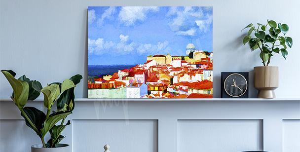 Cuadro Lisboa en una pintura