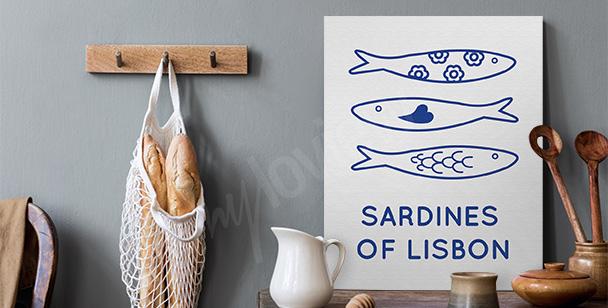 Cuadro Lisboa y sardinas