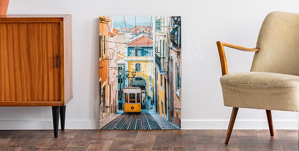 Cuadro Lisboa y teleférico