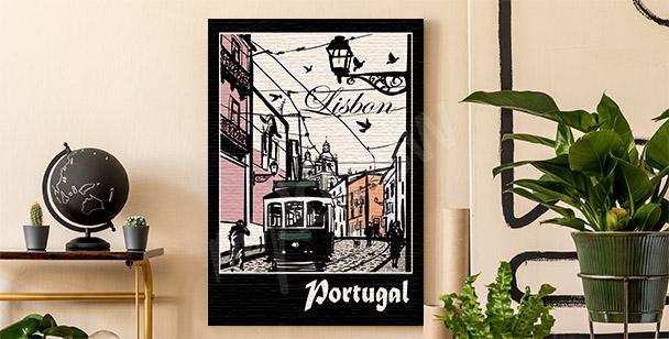 Cuadro Lisboa y tranvía