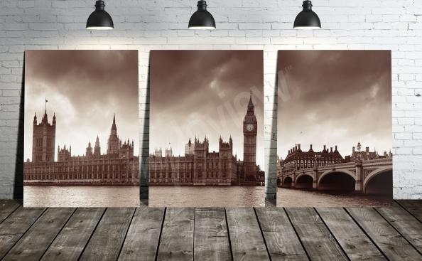 Cuadro Londres en sepia
