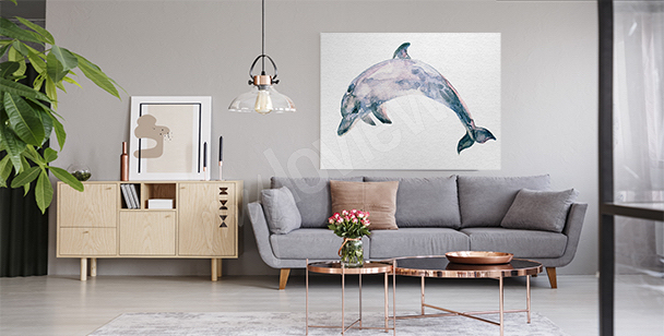 Cuadro mamífero azul marino