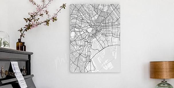 Cuadro mapa de la ciudad