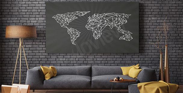 Cuadro mapa minimalista