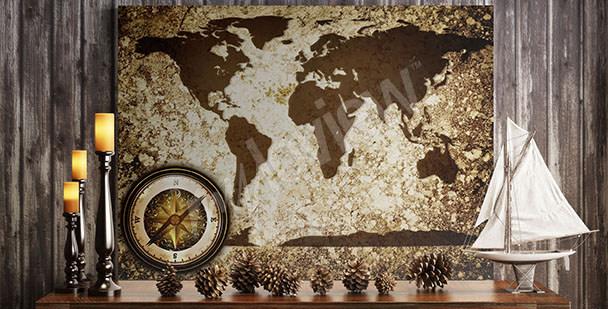 Cuadro mapamundi retro