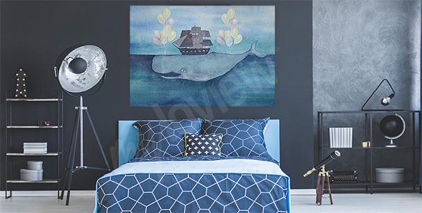 Cuadro mar y ballena