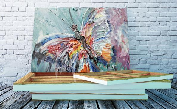 Cuadro mariposa pastel
