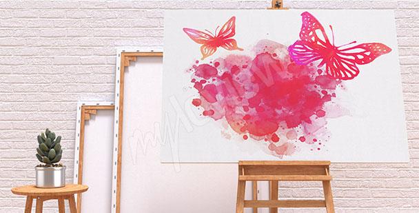 Cuadro mariposas acuareladas