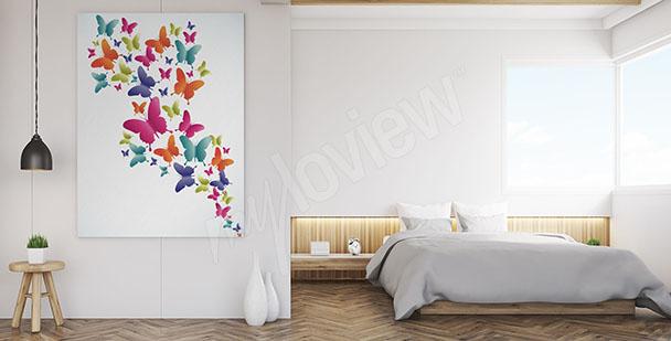Cuadro mariposas coloridas