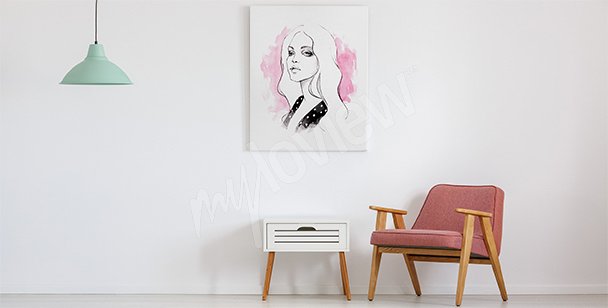 Cuadro minimalista para la sala de estar