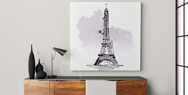 Cuadro minimalista Torre Eiffel