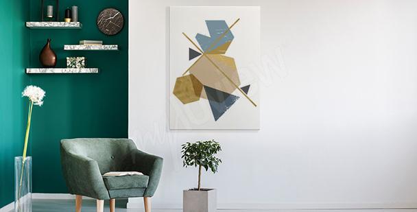 Cuadro moderno con una abstracción