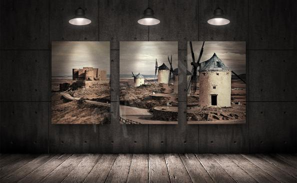Cuadro molinos de viento en España