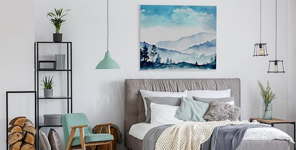Cuadro montañas para el dormitorio