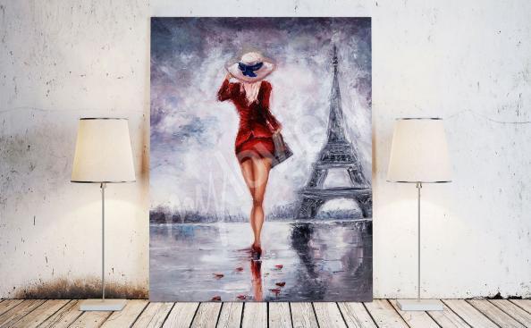 Cuadro mujer en París