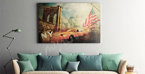 Cuadro Nueva York collage