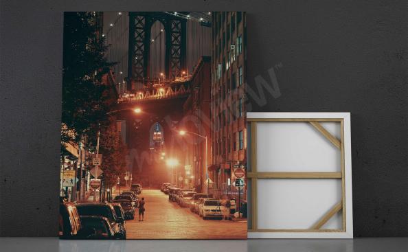 Cuadro Nueva York en la noche