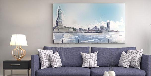 Cuadro Nueva York para la salón