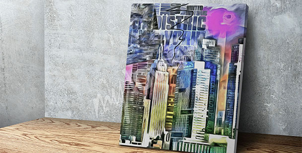 Cuadro NY rascacielos coloridos