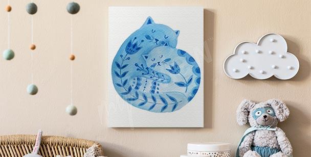 Cuadro ornamento con gato