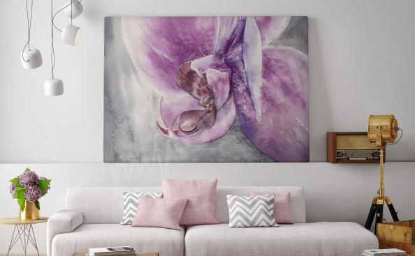 Cuadro orquídea para salón