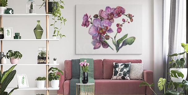 Cuadro orquídea púrpura