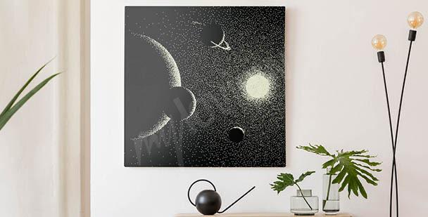 Cuadro paisaje cósmico