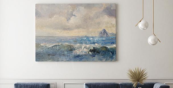 Cuadro paisaje en estilo al óleo