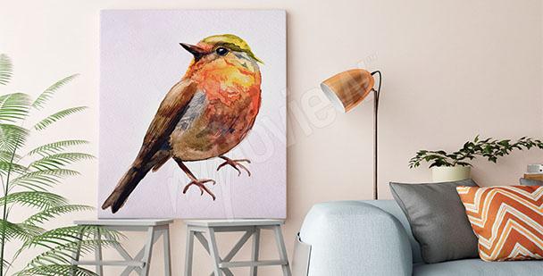 Cuadro pájaro acuarela