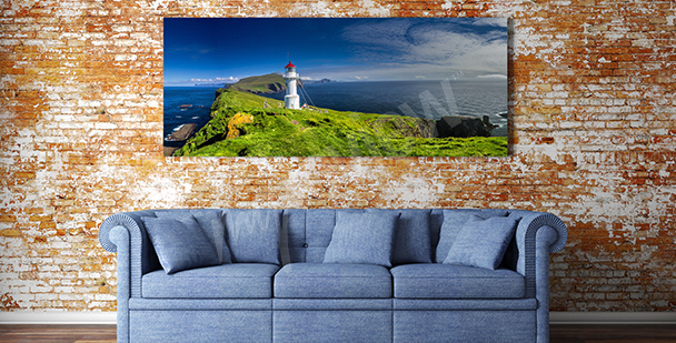 Cuadro panorama de la isla de Mykines