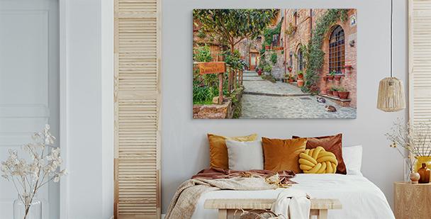 Cuadro panorámico Toscana