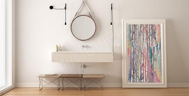 Cuadro para baño abstracción