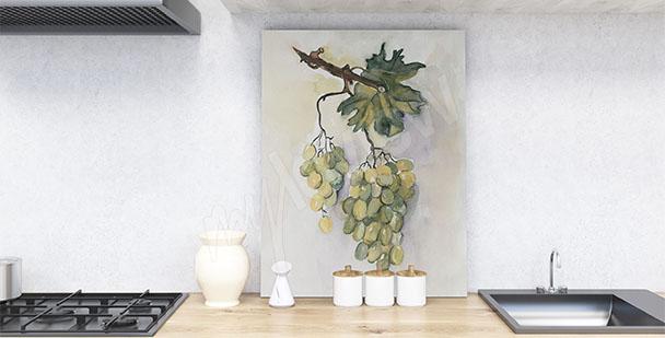 Cuadro para cocina uvas