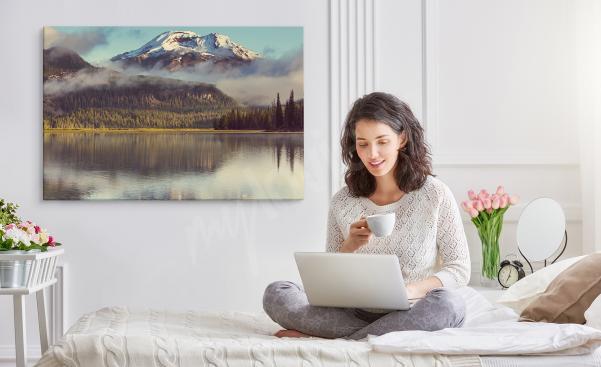 Cuadro para dormitorio con paisaje de montaña