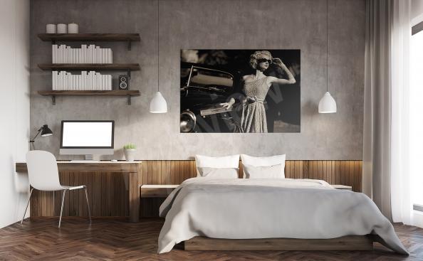 Cuadro para dormitorio retro