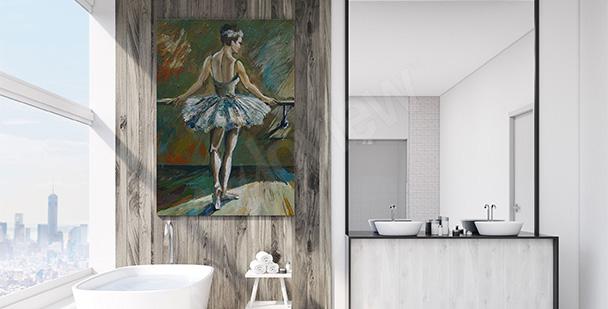 Cuadro para el baño con una bailarina