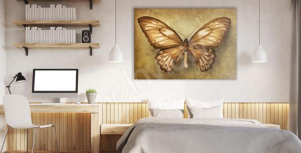 Cuadro para el dormitorio mariposa