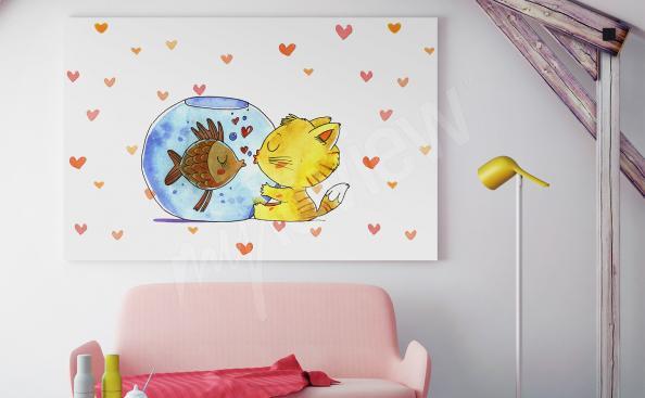 Cuadro para la habitación de un niño con animales