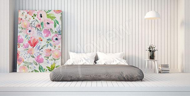 Cuadro para un dormitorio con flores