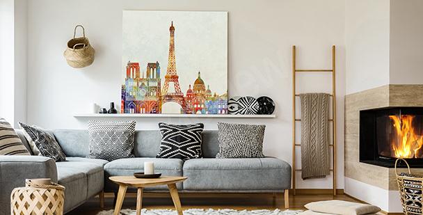 Cuadro París en acuarela