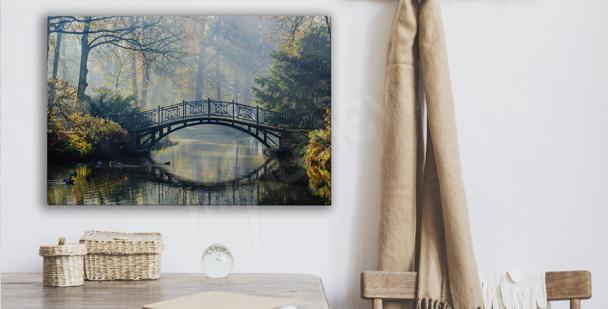 Cuadro parque con puente