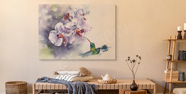 Cuadro pastel orquídea