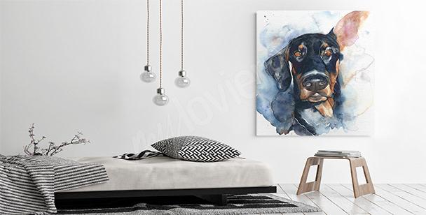 Cuadro perro negro