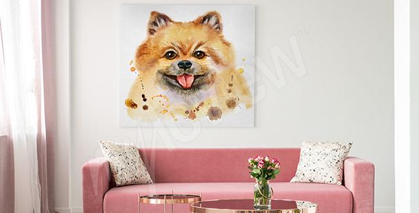 Cuadro perro para la sala de estar