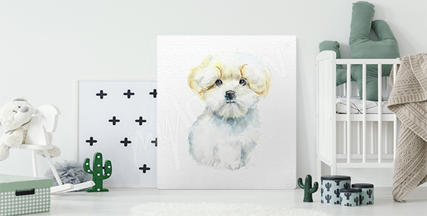 Cuadro perro para niño