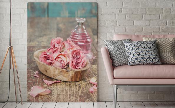 Cuadro pétalos de rosas