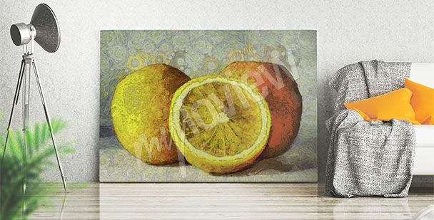 Cuadro pintura - frutas