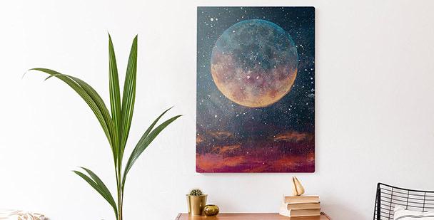Cuadro planetas y estrellas