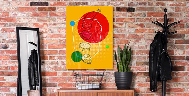 Cuadro pop art con frutas
