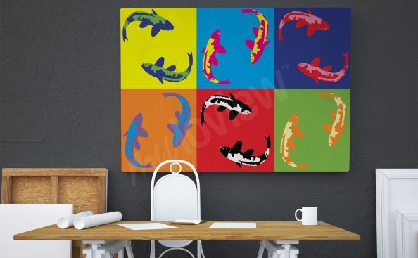 Cuadro pop art - pescado